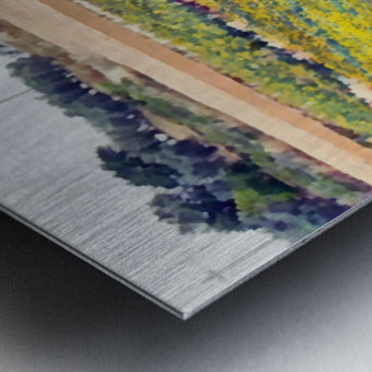 Sunflower Landscape Metal print