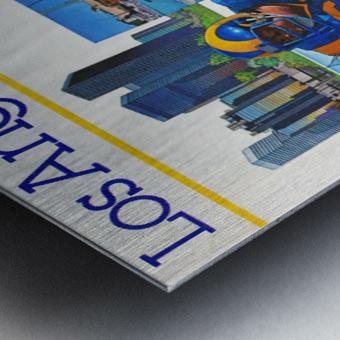 1982 la rams downtown los angeles hollywood poster Metal print