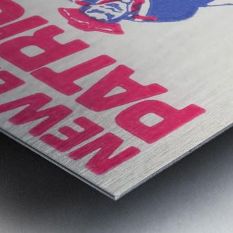 1972 new england patriots schaefer stadium art Metal print