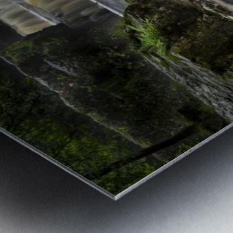 Rushing water at Horseshoe falls Metal print