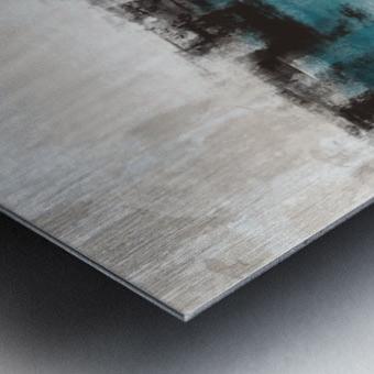 Blue Gray Black Abstract DAP 20013 Metal print