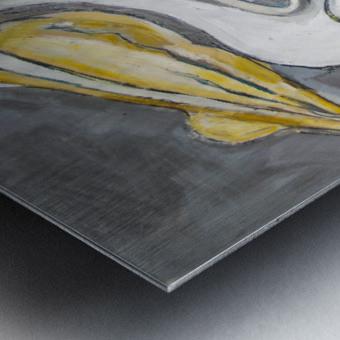 Louisiana White Pelican with Metallic Silver Metal print