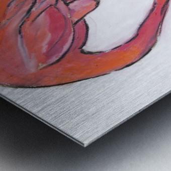 Louisiana Flamingo Study on Wood Metal print