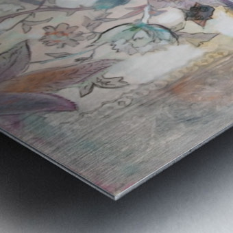 Riverton Wallpaper Tracings Triptych Metal print