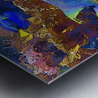 Venture into Unknown Metal print