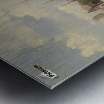 Blick auf eine Hafenstadt Metal print