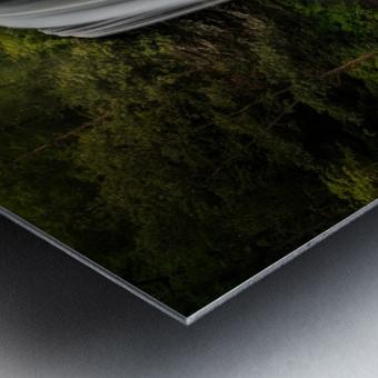 Capturing the Cascade Metal print