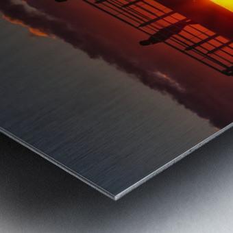 Coucher de  soleil sur Rimouski Impression metal
