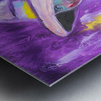 Woman in violet Metal print
