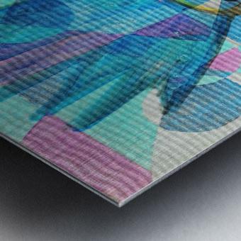 Woman in blue-5 Metal print