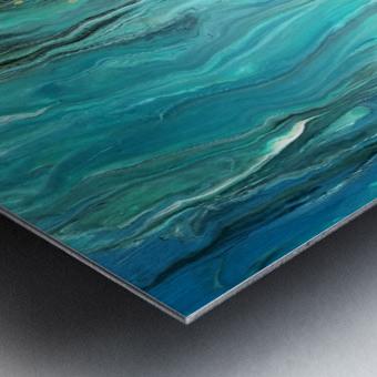 Ocean Ripple Metal print