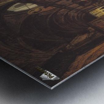 Veduta della piazza del Duomo dal Coperto dei Figini Metal print