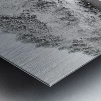 Rugby Pitch Bridge- Winter Metal print