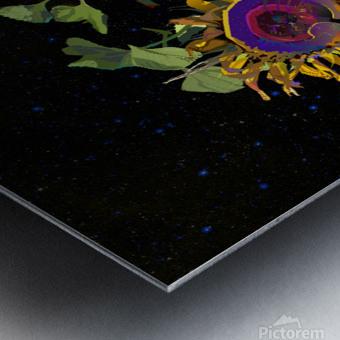 Sunflower in Space Metal print