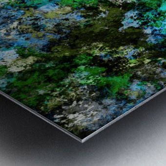 The wet and the moss Metal print