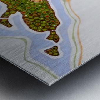 the green nation Metal print