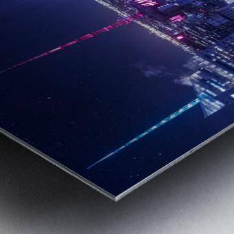 The Grid Metal print