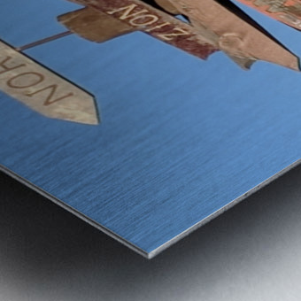 Crossroads at Moab Metal print
