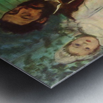 Portrait of Count Lepic and his daughters by Degas Metal print