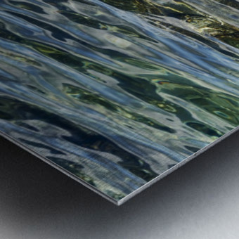 Close up of water on shore of slovenian resort town Piran Slovenia Metal print