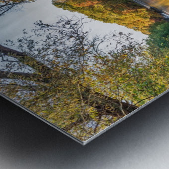 Autumn morning on the Grand River at Mechanicsville Ohio Metal print