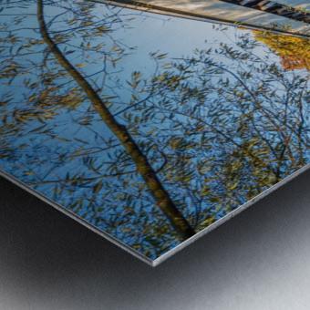 Mechanicsville covered bridge over Grand River Ohio Metal print