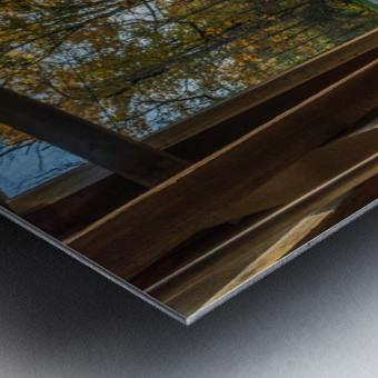 Portal of Mechanicsville covered bridge Ashtabula County Ohio Metal print
