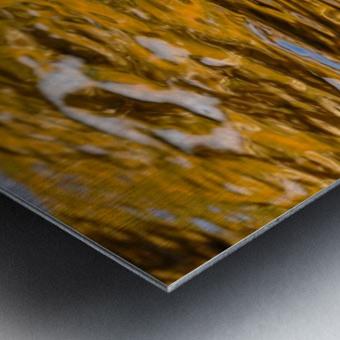 Flowing reflections 4 Metal print