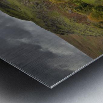 The Claerwen reservoir dam in Powys Metal print