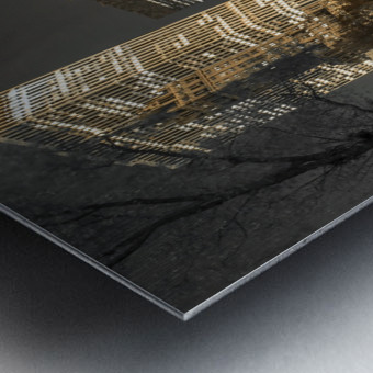 Evening view of Central Park in New York City Impression metal