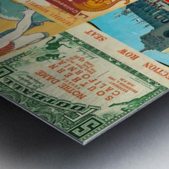 USC Trojans Football Ticket Stub Collage Metal print