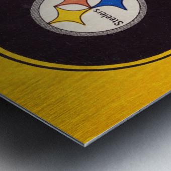 Vintage Pittsburgh Steelers Football Helmet Art Metal print