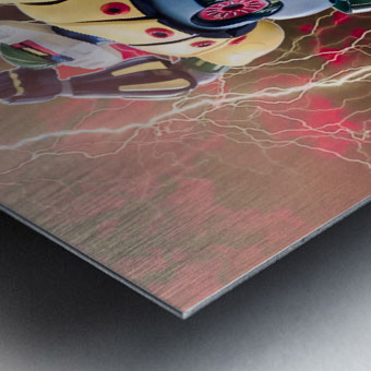 Kotetsu Jeeg - Steel Jeeg Metal print
