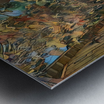 Hokusai alley Metal print
