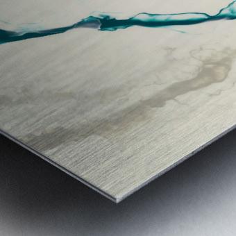 Teal Expressions 04 Metal print