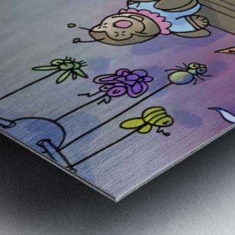 Twins - Baby nursery - Bugville Critters Metal print