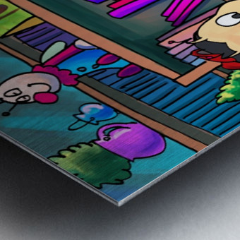Library - Bugville Critters Metal print