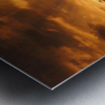 Golden Heavens Metal print