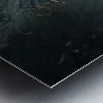 Crystal wave Metal print
