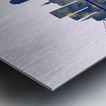 Novi Sad Skyline Metal print