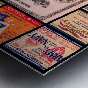 Army Navy Football Ticket Stub Collage Metal print