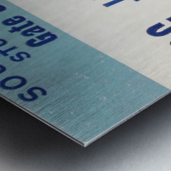 1978 North Carolina Student Ticket Metal print