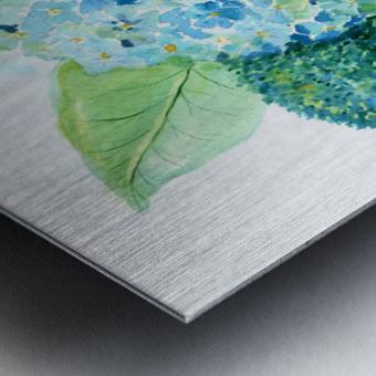 Lovely Blue Hydrangia  Metal print