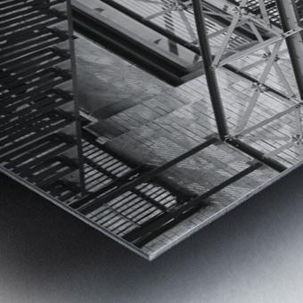 ASCEND DESCEND Metal print