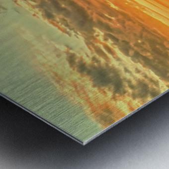 The Carolina Sunset Metal print