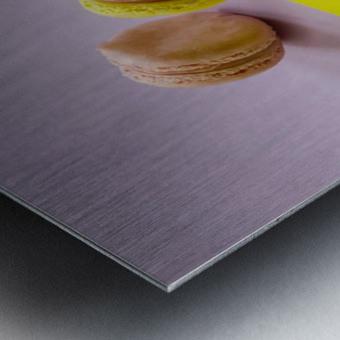 food macaroon photography Metal print