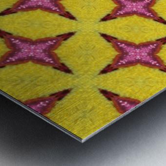 yellowpink Metal print