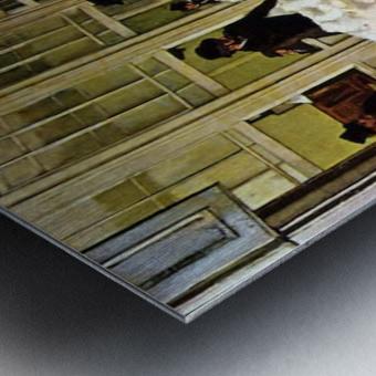 The cotton exchange by Degas Metal print