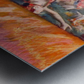 The curtain falls by Degas Metal print
