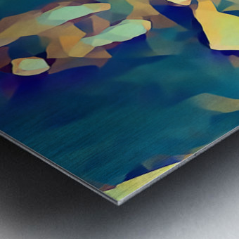 Inside of Glass Metal print
